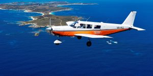 Flying over Rottnest with the Air-Taxi